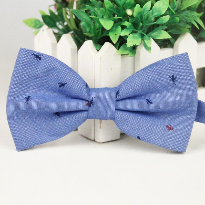 Nơ đeo cổ xanh biển nn100 - 1