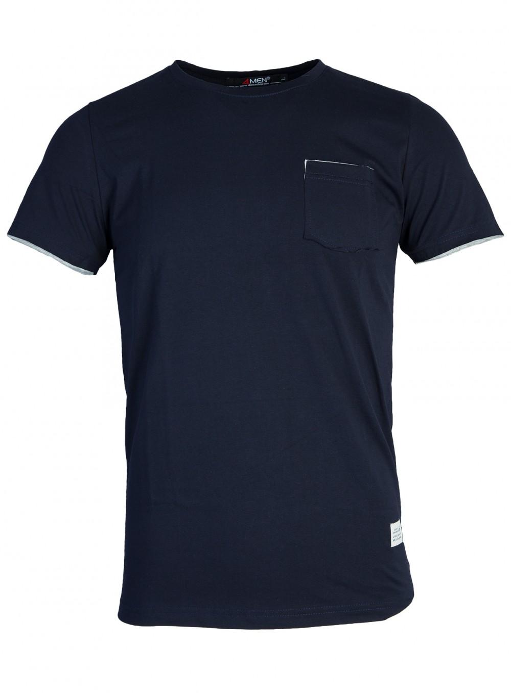 Áo thun xanh đen at761 - 1