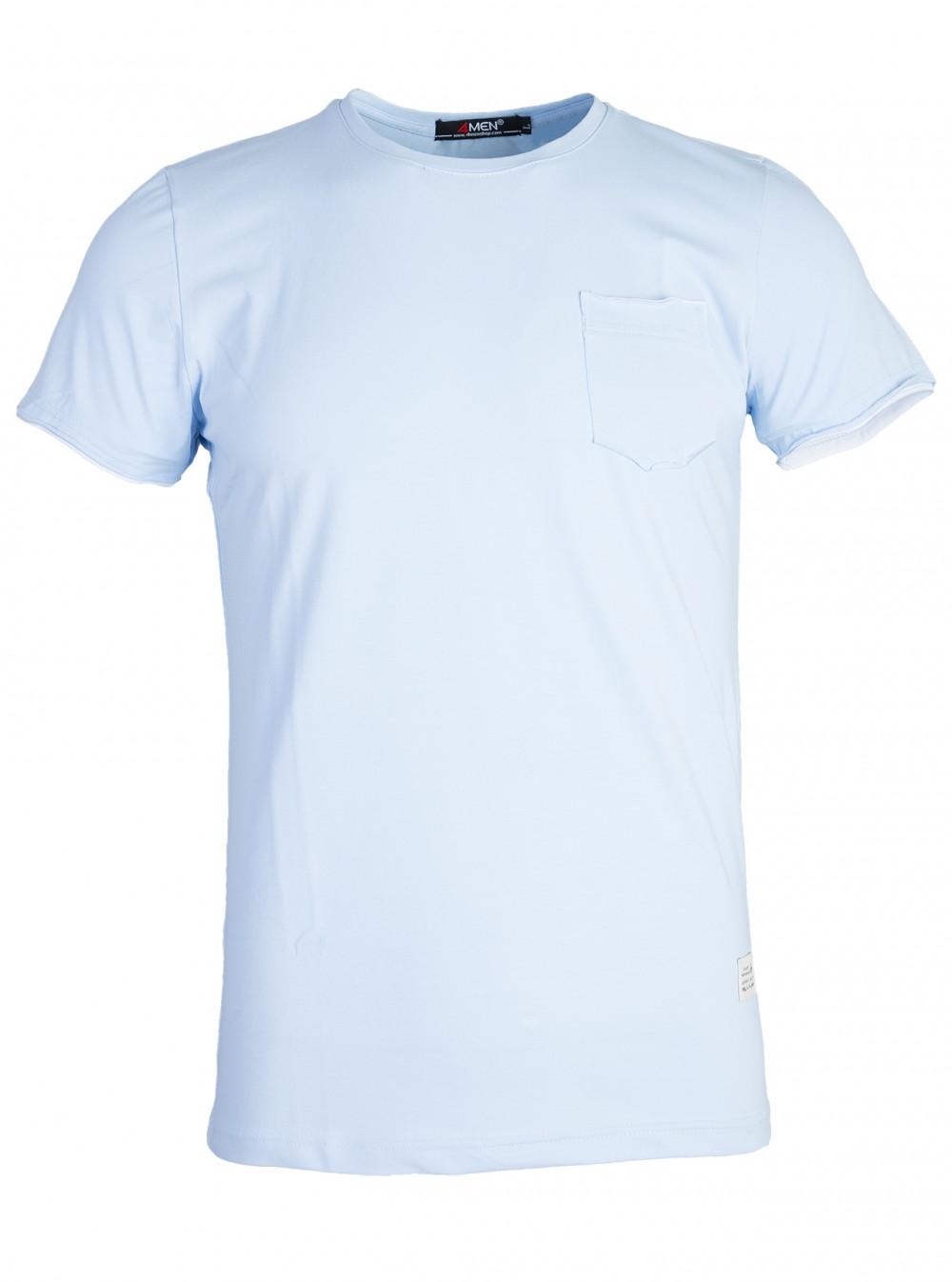Áo thun xanh da trời at761 - 1