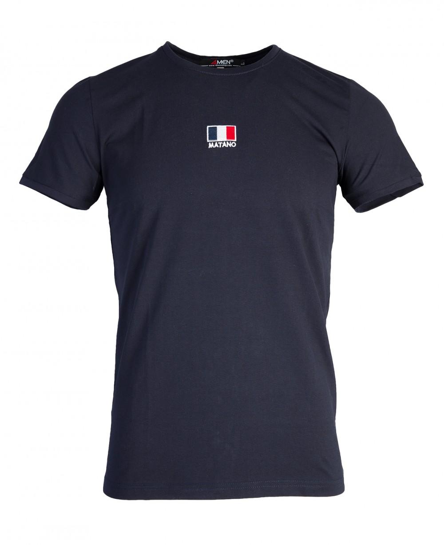 Áo thun xanh đen at760 - 4