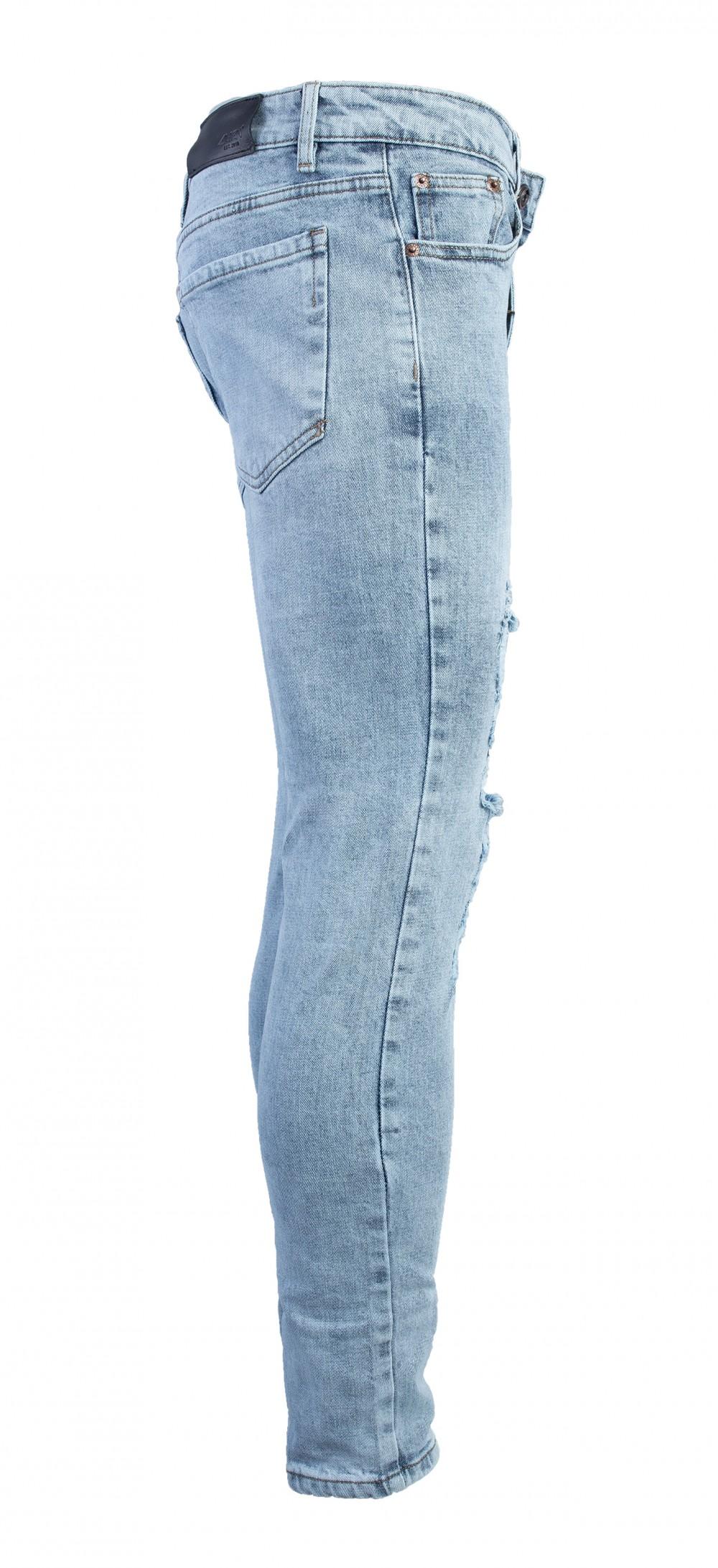 Quan Jeans Rach Xanh QJ1562
