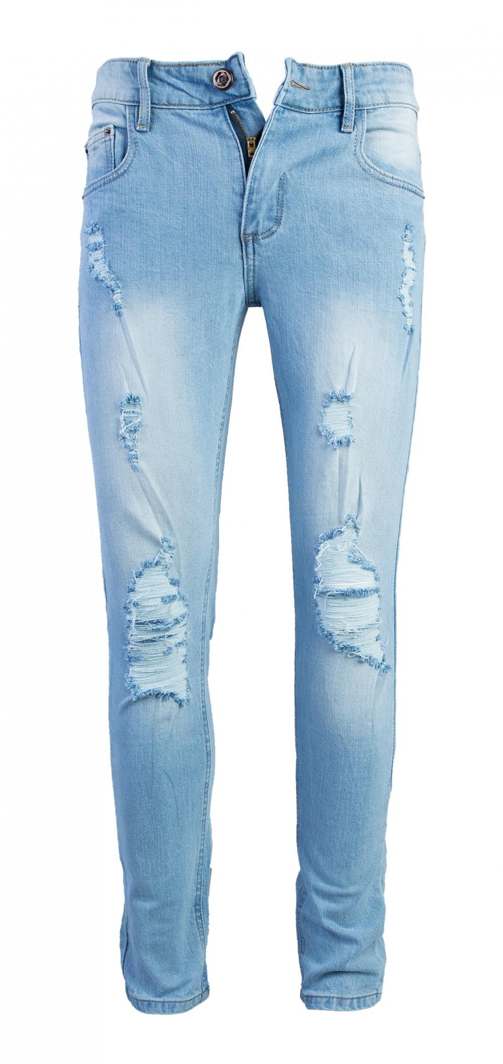 Quần jeans rách xanh qj1575 - 1