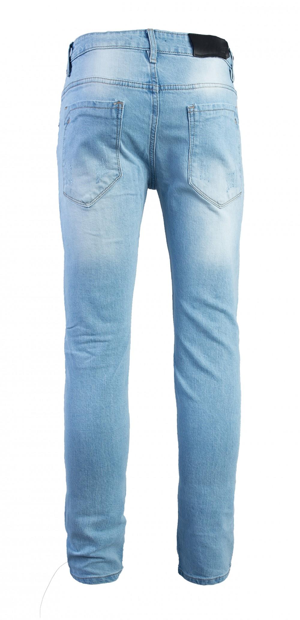 Quần jeans rách xanh qj1575 - 3