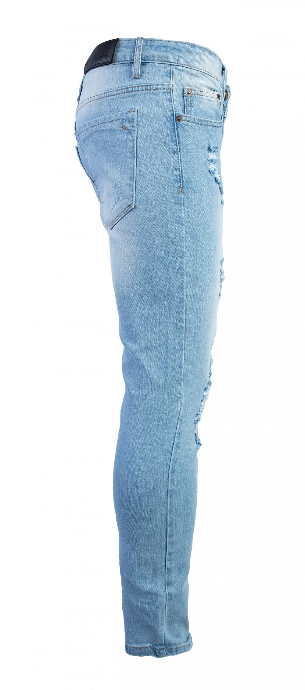 Quần jeans rách xanh qj1575 - 2