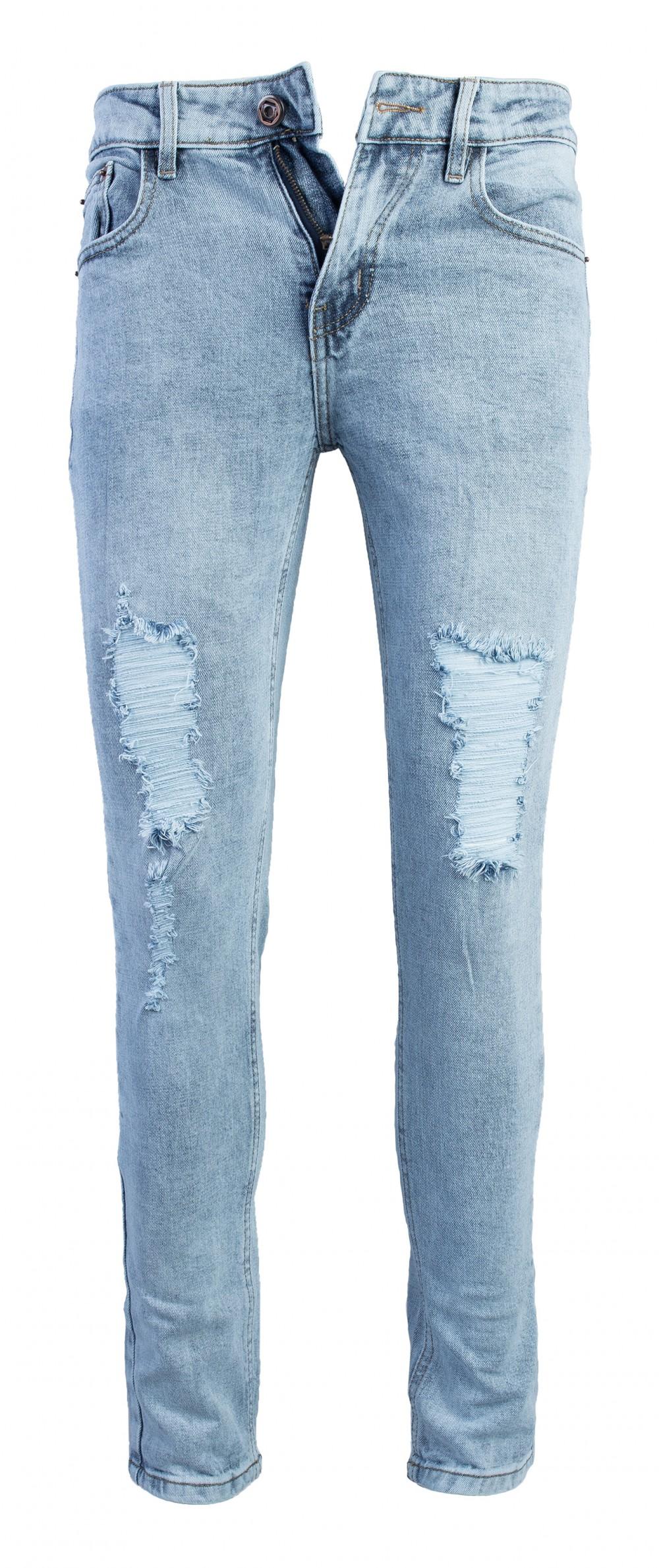 Quần jeans rách xanh qj1562 - 1