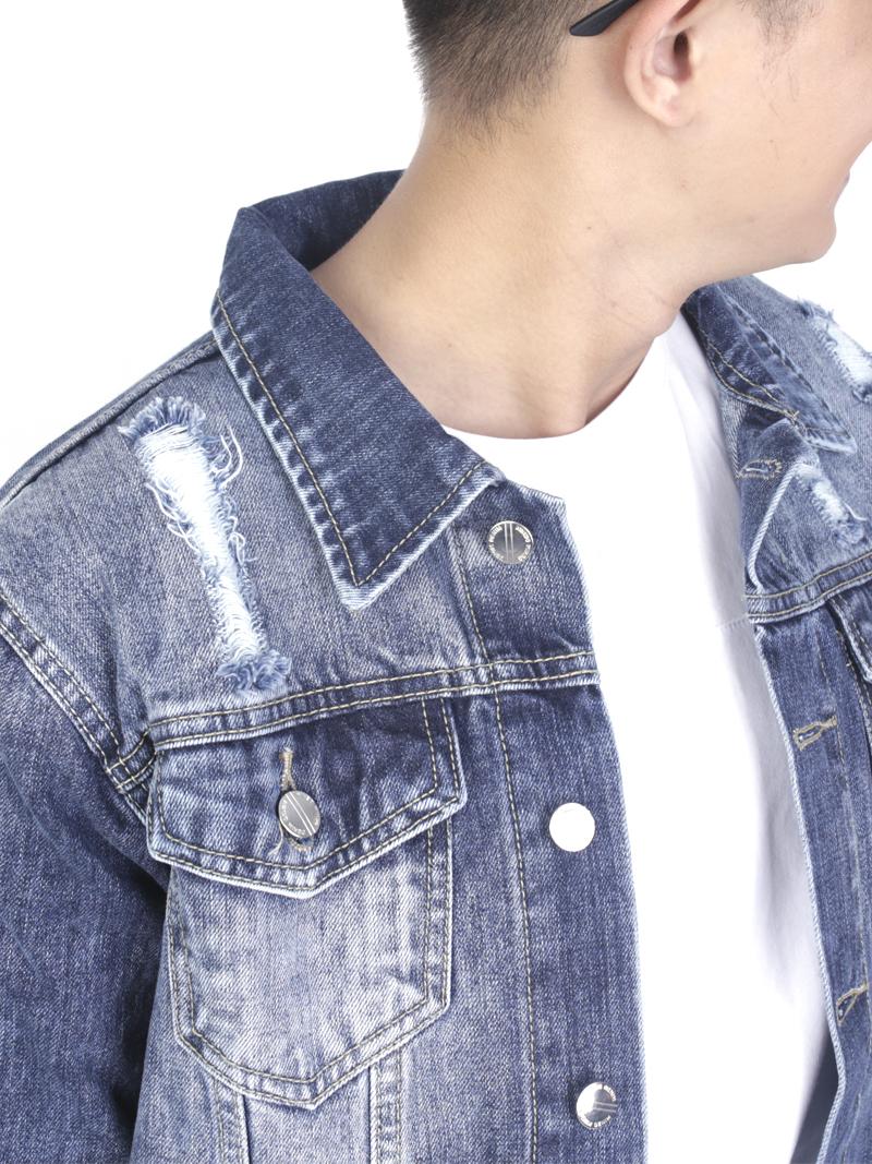 Áo khoác jean xanh ak236 - 4
