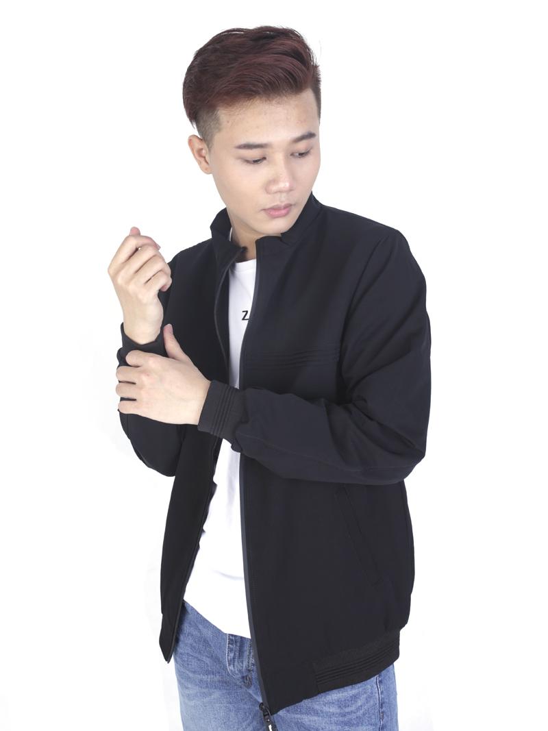 Áo khoác kaki đen ak243 - 1