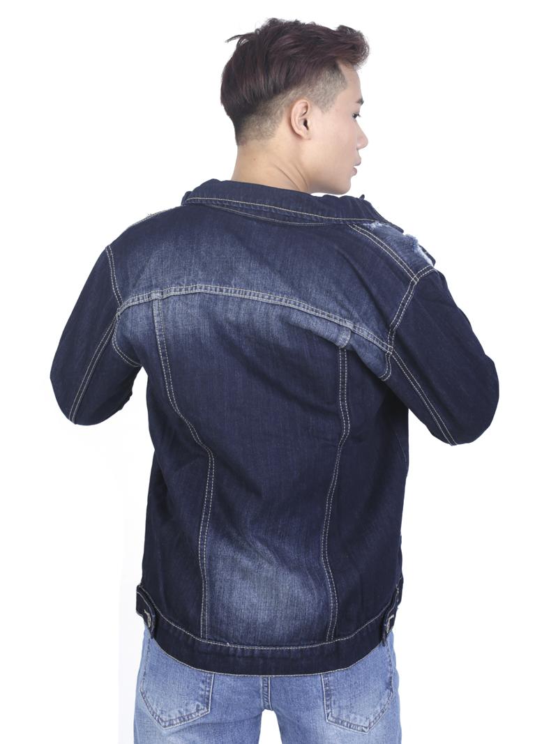 Áo khoác jean xanh đen ak236 - 4
