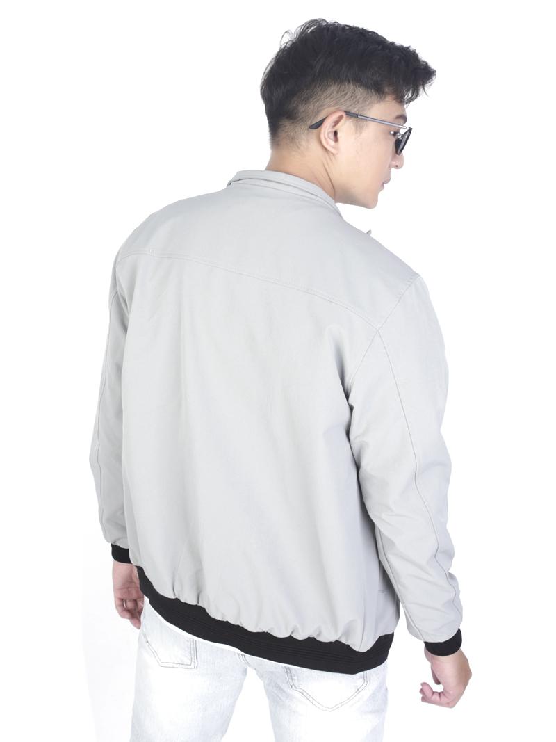 Áo khoác kaki xám trắng ak243 - 3