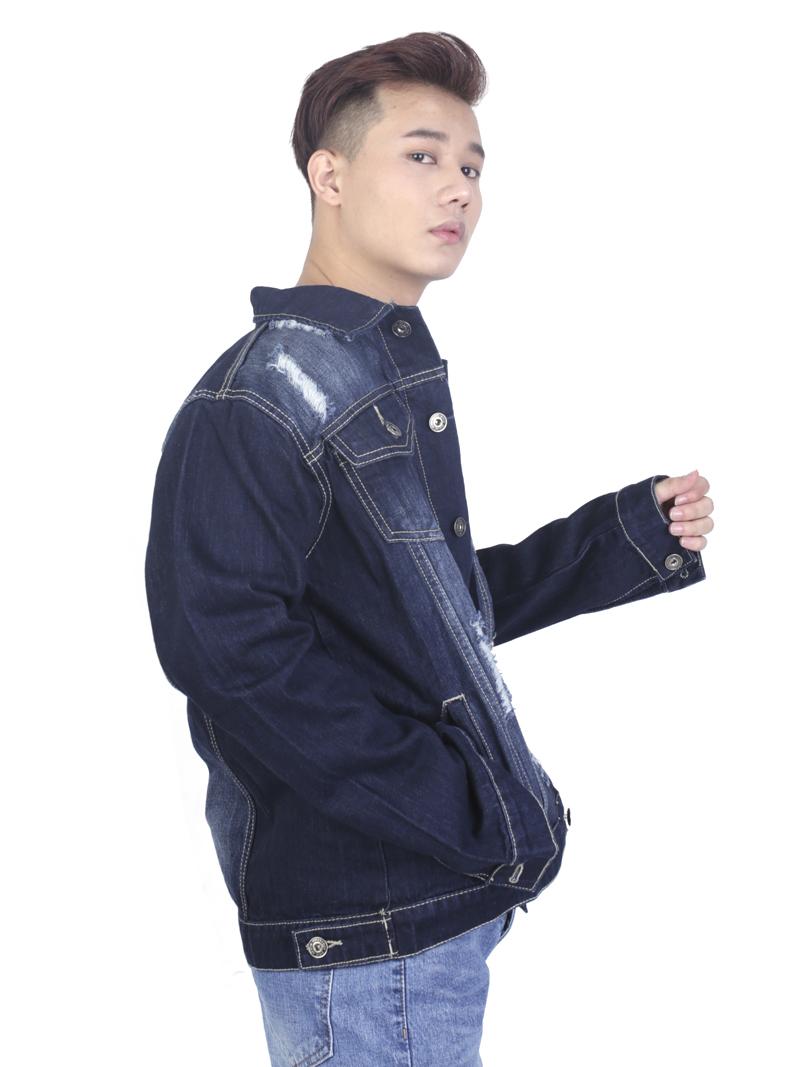 Áo khoác jean xanh đen ak236 - 2