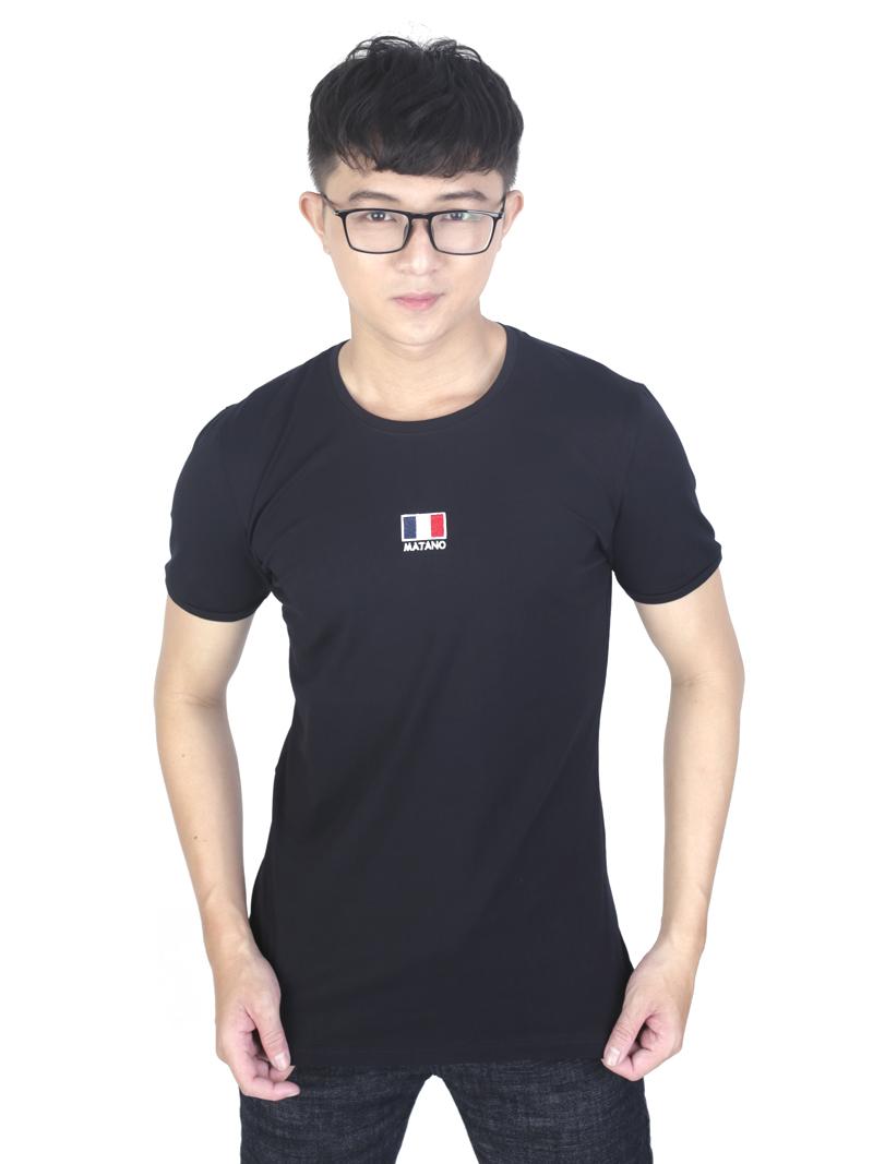 Áo thun đen at760 - 1