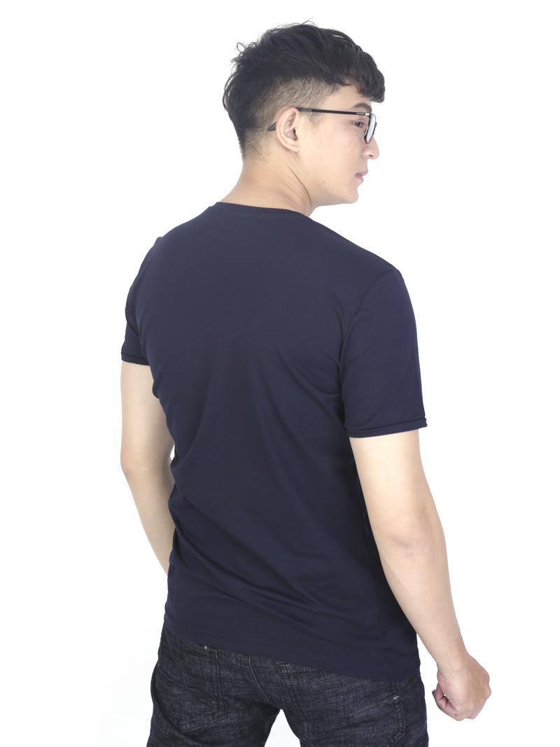 Áo thun xanh đen at760 - 3