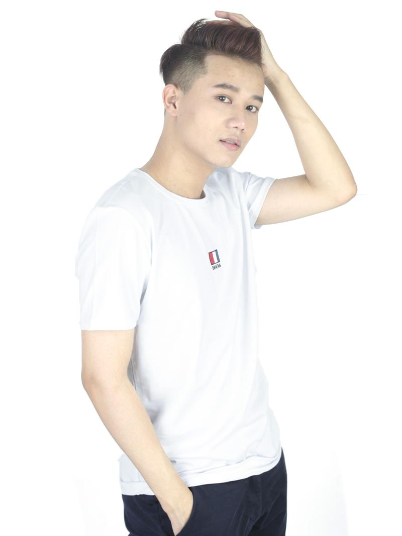 Áo thun trắng at760 - 1