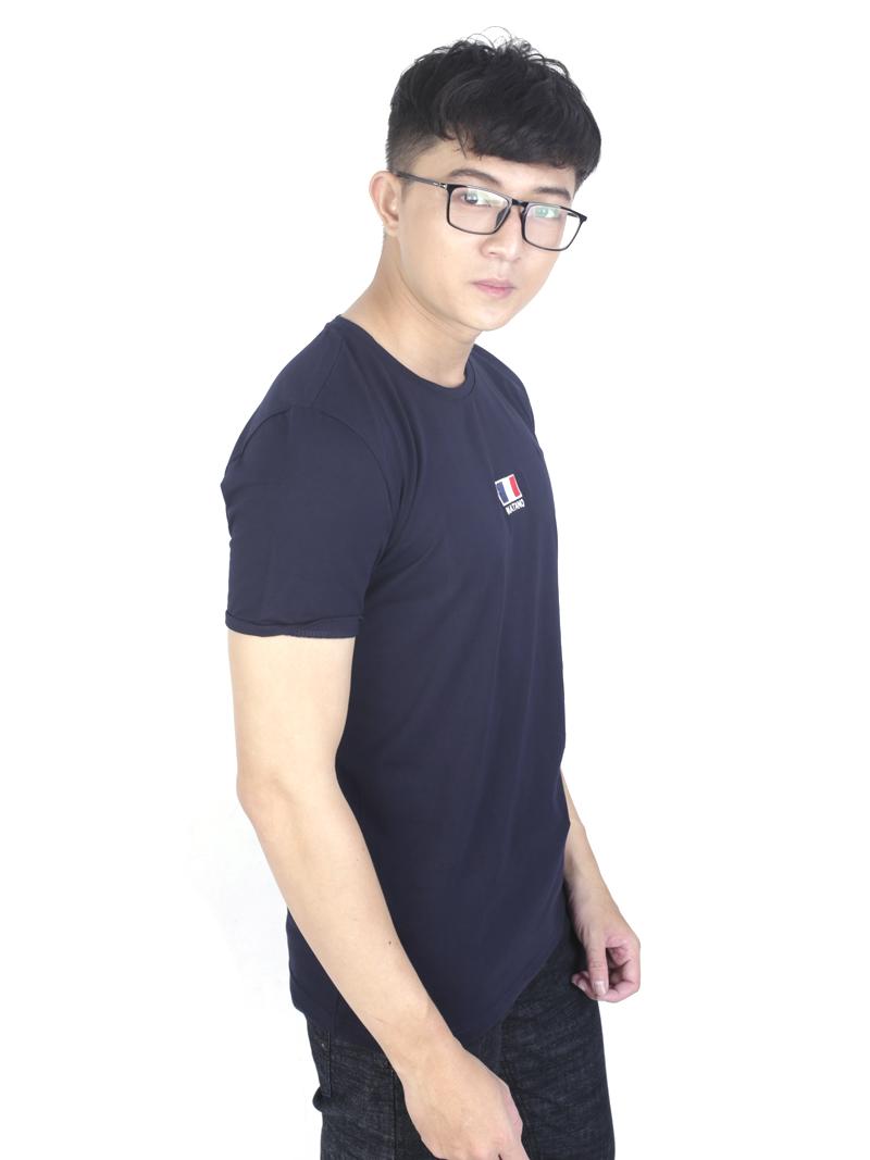 Áo thun xanh đen at760 - 2