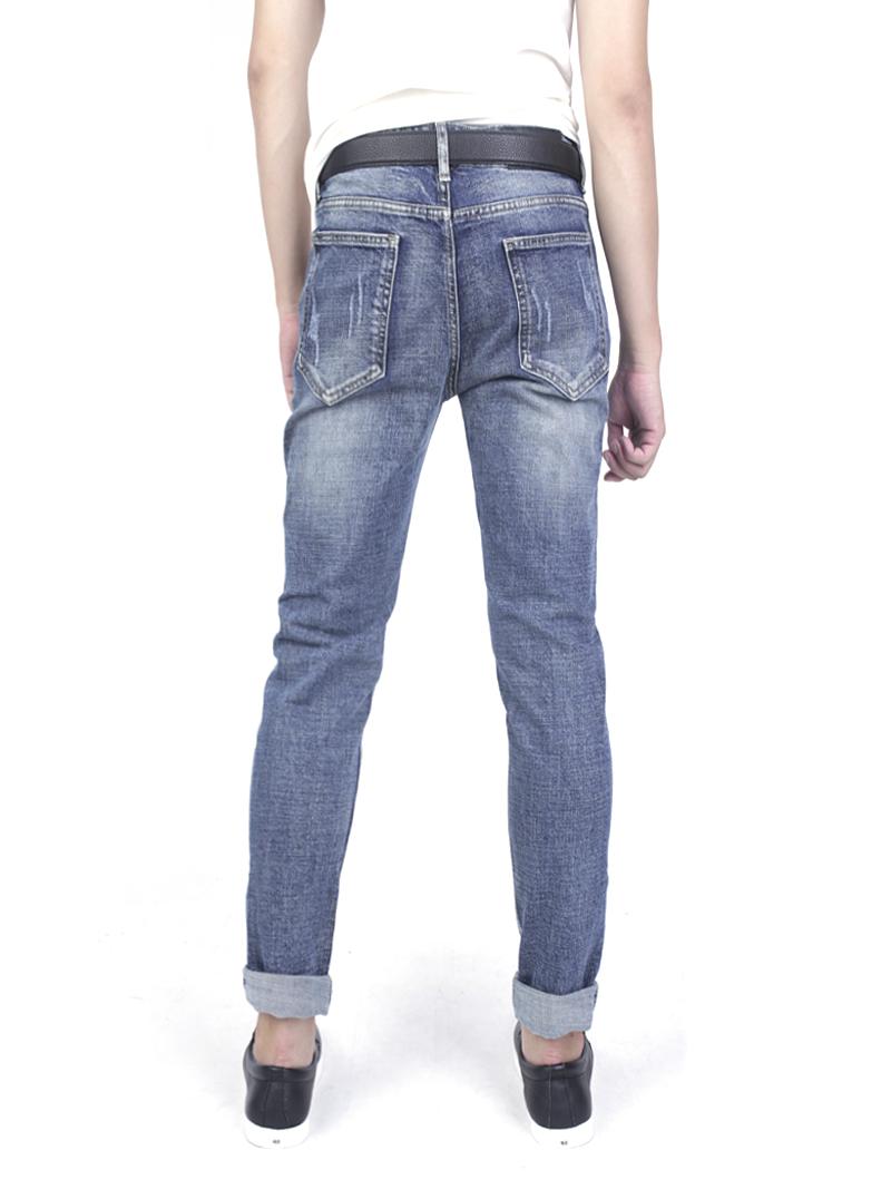 Quần jeans rách xanh đen qj1576 - 3