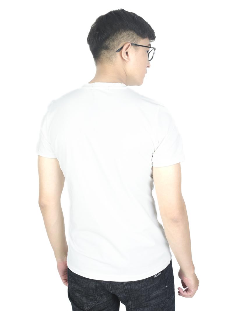 Áo thun trắng kem at766 - 3