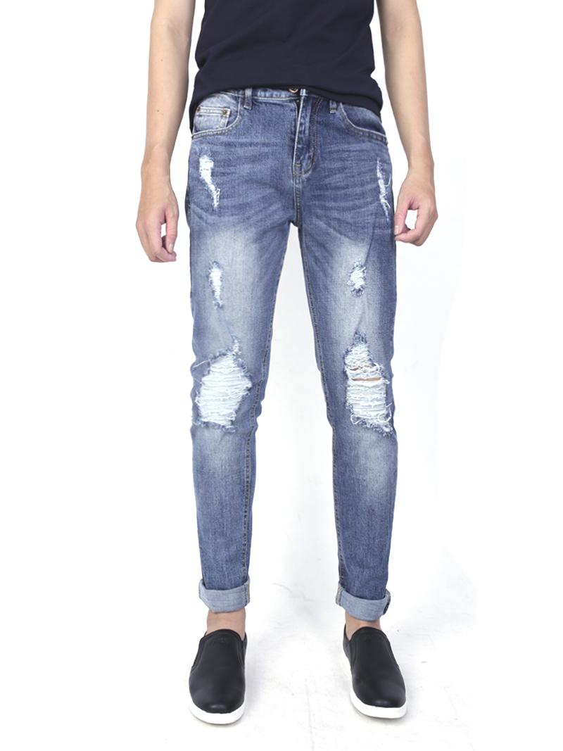 Quần jeans rách xanh qj1573 - 1