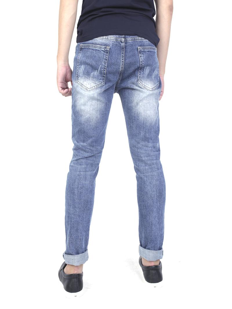 Quần jeans rách xanh qj1573 - 3
