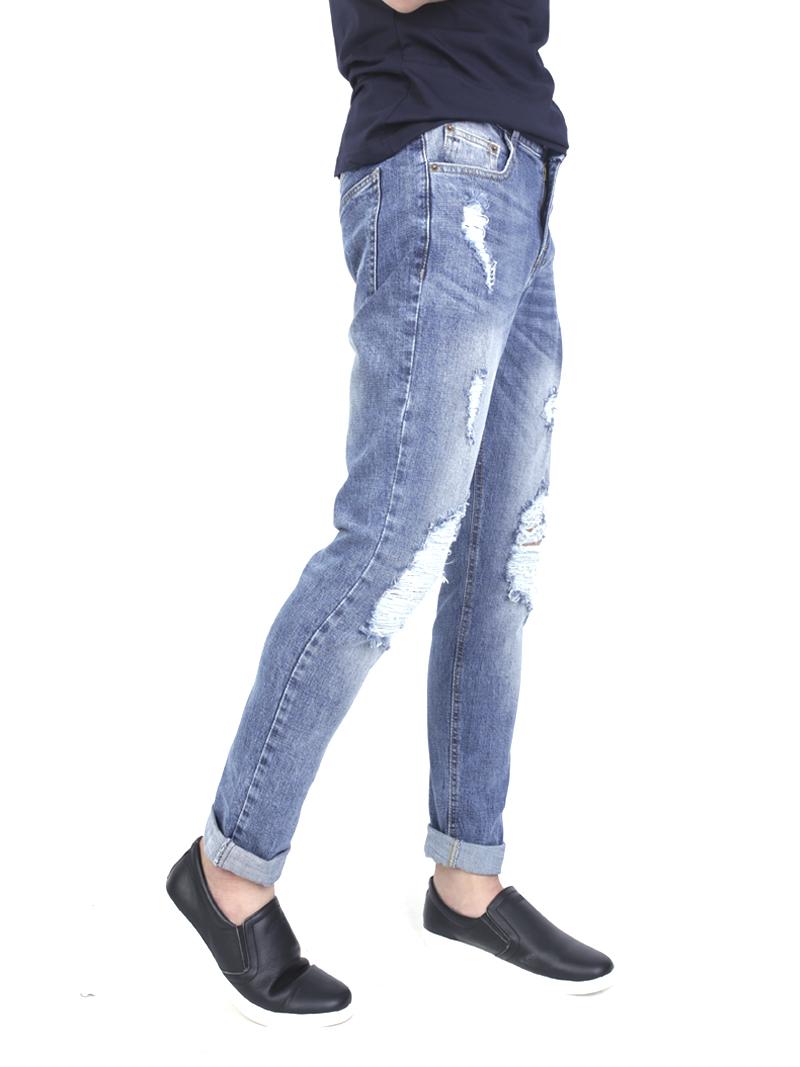Quần jeans rách xanh qj1573 - 2