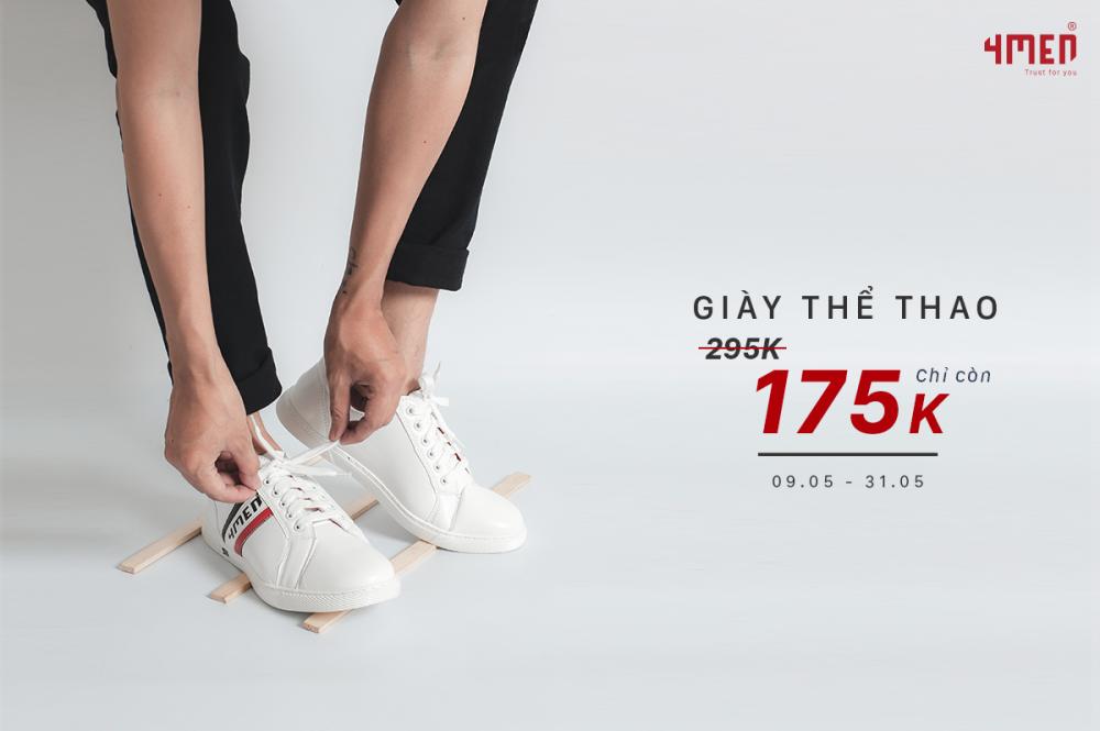 Giảm sốc tháng 5 giày thể thao chỉ 175k - 1