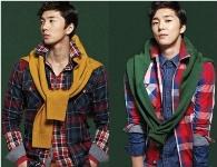 Sao nam Hàn kết thời trang dệt kim