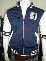 Áo khoác bóng chày Facebook K42 Xanh Đen logo Bóng