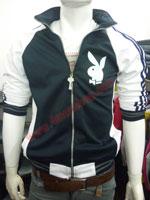 Áo khoác bóng chày playboy K41 Đen