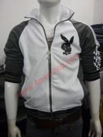 Áo khoác bóng chày playboy K41 Xám Đậm