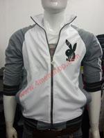 Áo khoác bóng chày playboy K41 Xám nhạt