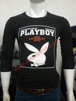 Áo Thun Tay Dài Playboy 2023 Đen