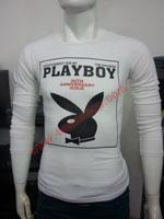 Áo Thun Tay Dài Playboy 2023 Trắng