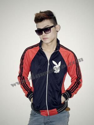 Áo khoác bóng chày playboy K41 Đỏ Đen
