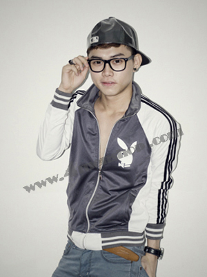 Áo khoác bóng chày playboy K41 Xám