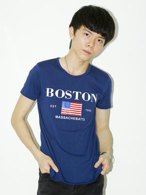 Áo thun BOSTON Xanh Dương Đậm AT312