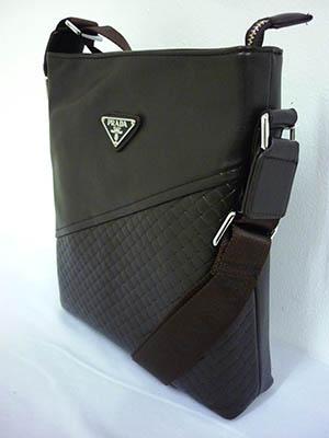 Túi đựng Ipad Da Nâu PRADA TXF003