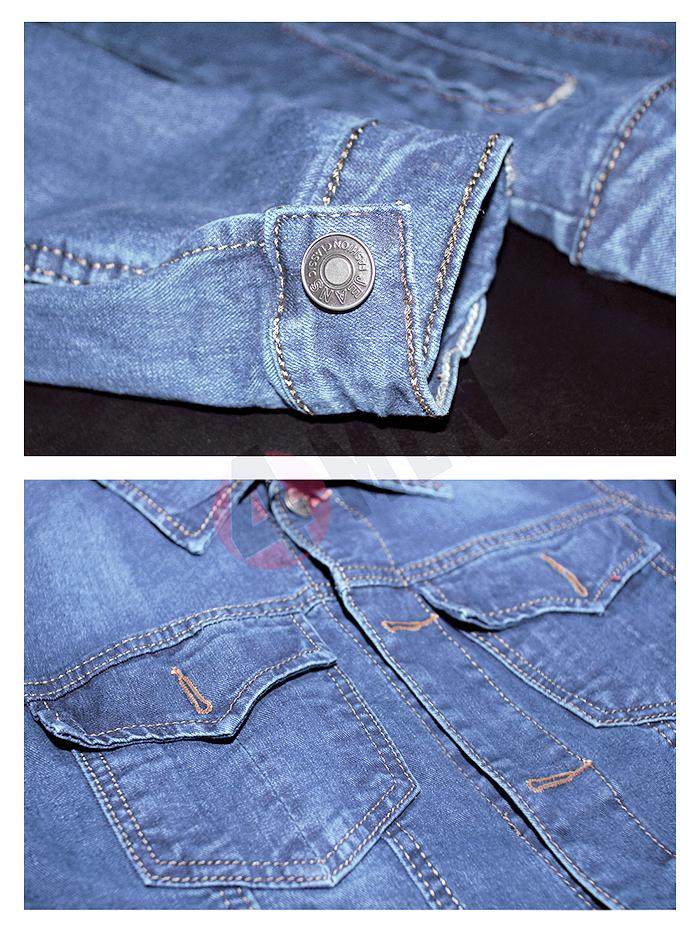 Áo khoác jean xanh da trời nhạt ak130 - 2