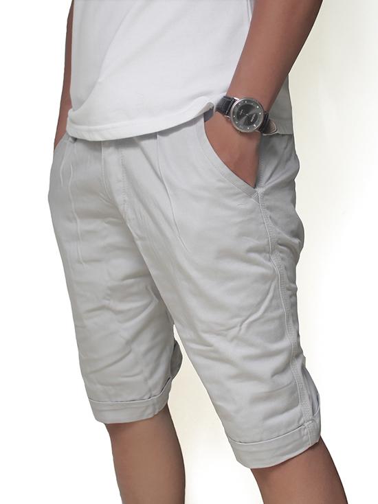 Quần short kaki trắng xám qs39 - 2