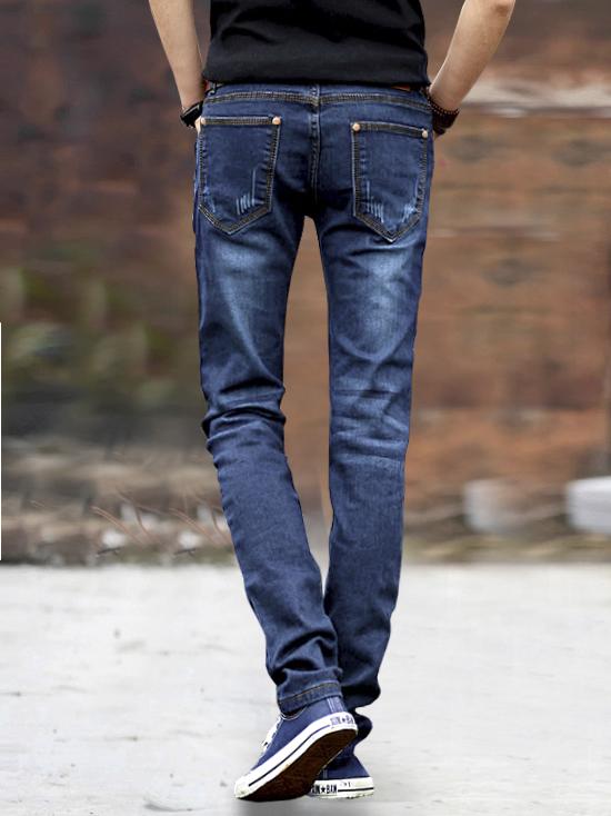 Quần jean xanh dương đậm qj1240 - 2