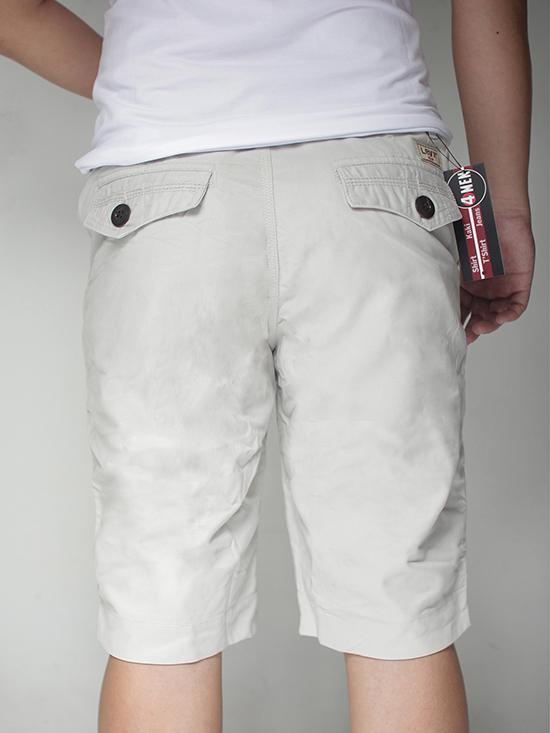 Quần short trắng xám qs21 - 2