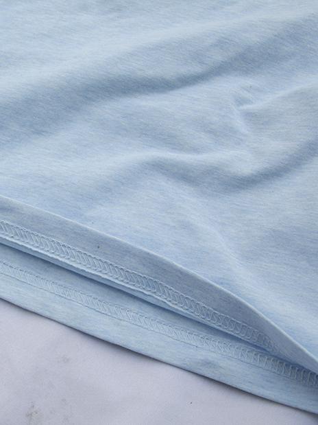 Áo thun cổ tim xanh da trời nhạt at541 - 2