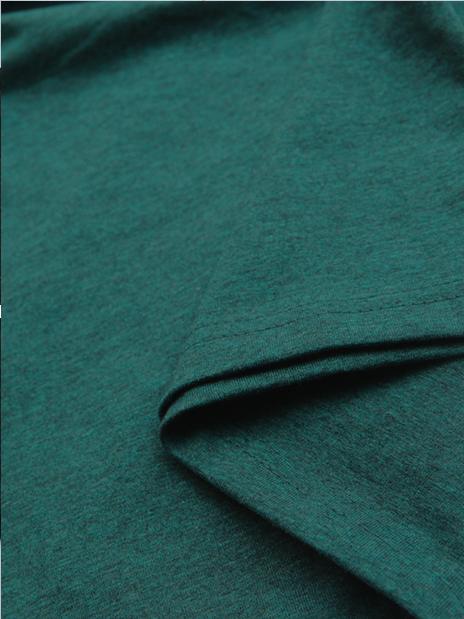 Áo thun cổ tim xanh rêu at541 - 2