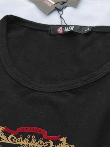 Áo thun cổ tròn đen prada at540 - 2