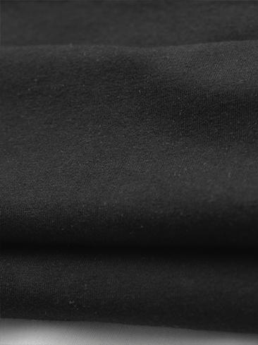 Áo thun cổ tròn đen prada at540 - 3