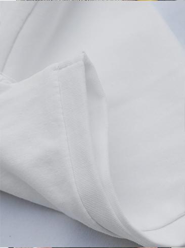 Áo thun cổ tròn trắng kem prada at540 - 2