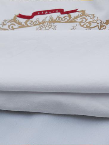 Áo thun cổ tròn trắng kem prada at540 - 3