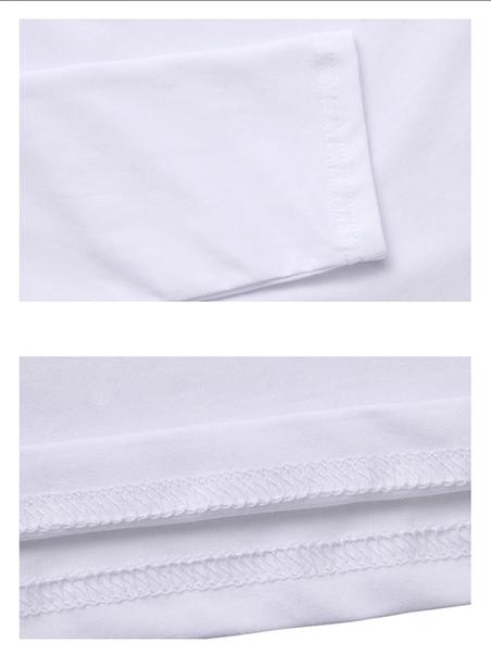 Áo thun tay dài trơn cổ tim trắng at542 - 2