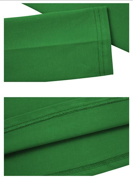 Áo thun tay dài trơn cổ tim xanh lá cây at542 - 3