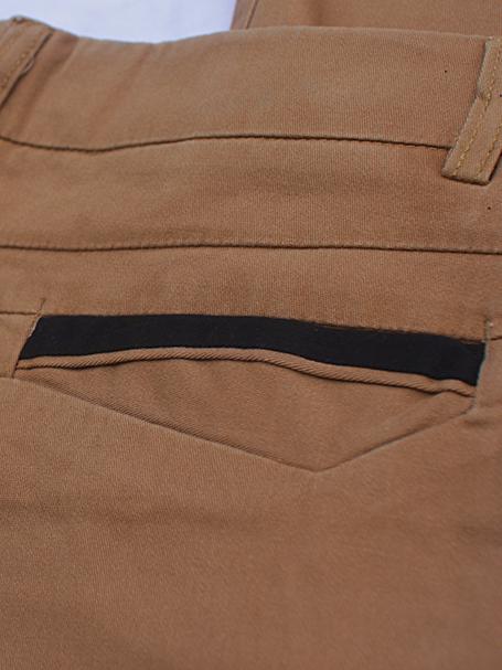 Quần kaki hàn quốc màu bò qk131 - 2