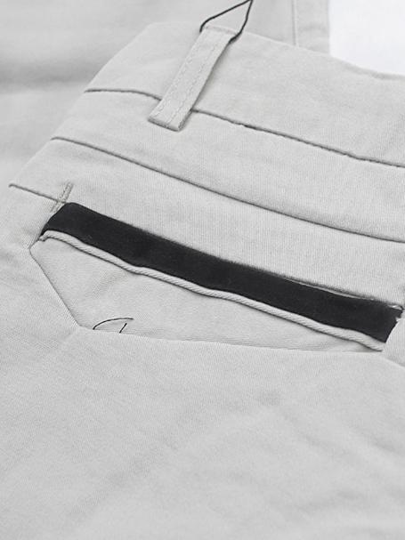 Quần kaki hàn quốc trắng kem qk131 - 3