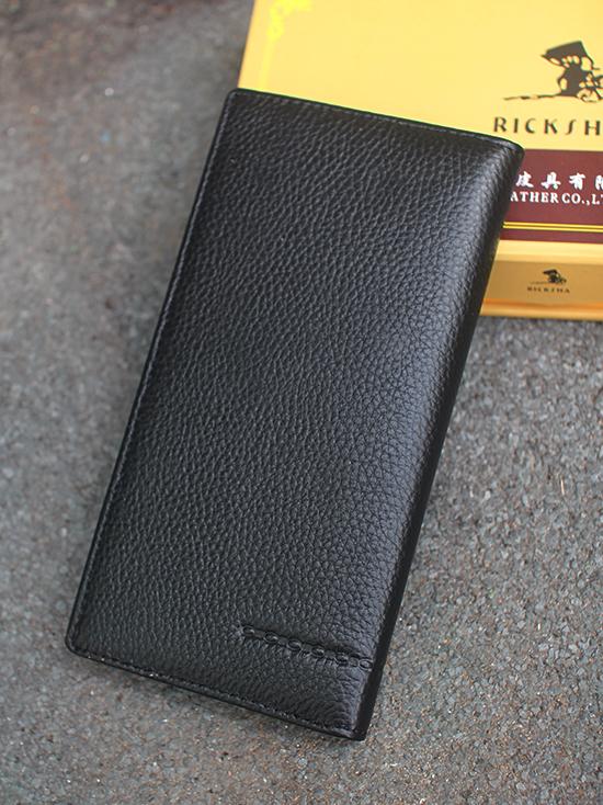 Ví Da Nam Cầm Tay Đen Ricksha BV100
